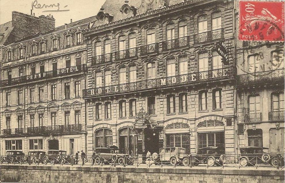 Cpa hotel moderne rennes