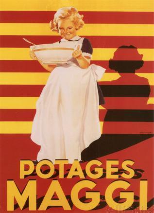 Potage maggi affiche 1
