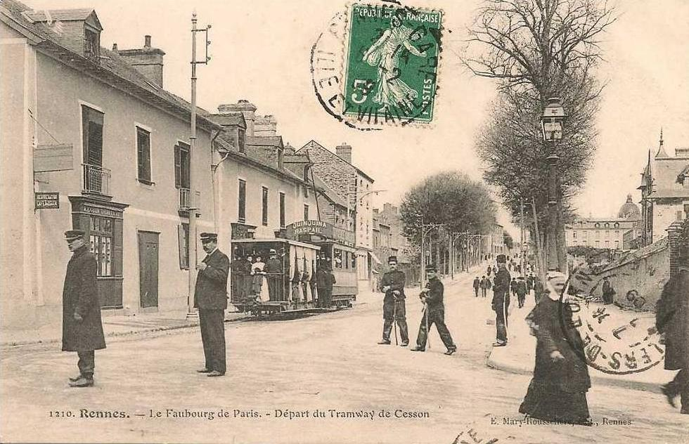 Tramway cesson rue de paris